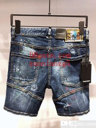 For Famous Brand Clothes Australia - 2019 New designer mens ripped famous brand biker jeans for top quality skinny 05 denim shorts fashion clothing
