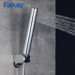 $enCountryForm.capitalKeyWord NZ - Fapully Bathroom Accessories Water Saving Shower Heads Chrome Electroplated Handhold ABS High Pressure Hand Shower AEF0021