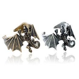 $enCountryForm.capitalKeyWord NZ - Fashion Retro accessories Luminous Ring Pterosaur Pattern Ring Adjustable Men's Jewelry Decor