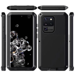 waterproof casing for galaxy note UK - Dirt Proof Shockproof Waterproof Hard Case for Iphone 11 Pro Max XR XS 8 7 Plus Hybrid Metal Heavy Duty Snowproof 3 In 1 Slim Armor Cover