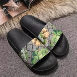 Green Gingham Australia - Designer GG slippers unisex luxury Sandals Slipper Mens Womens Slipper Designer Shoes Flip Flops Slide 35-46 Hot