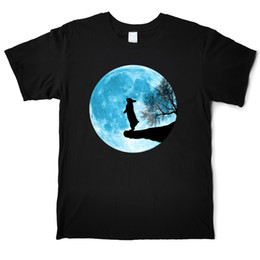 moon printed tee Australia - Blue Moon Bunny Funny Design Animal T-Shirt Men's Pure Cotton Fashion T-Shirt Crew Neck Short Sleeve Street Tees Shirt Casual Printed Tops