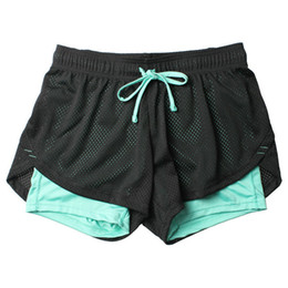 Clothing modal yoga online shopping - Lulu Unisex Summer Yoga Shorts Women Mesh Breathable Ladie Girl Short Pants For Running Athletic Sport Fitness Clothes Jogging C19041101