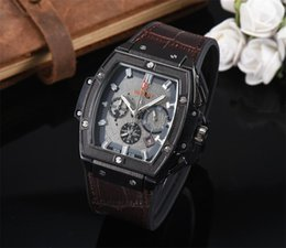 Logo Brand Man Watch Australia - Top brands HBOT LOGO men watches quartz Stopwatch All small dial work new masculino luxury watches Relogio brand Wristwatches men bh #4