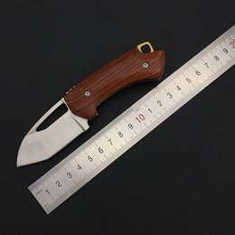 $enCountryForm.capitalKeyWord Australia - Red sandal wood Survival Knives,D2 Blade Folding Knife, Very sharp Mini Rescue Pocket Knife,Gift Key EDC camping Tools