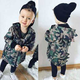$enCountryForm.capitalKeyWord Australia - Casual Toddler Kid Baby Boy Camouflage Jacket Dinosaur Zipper Coat Top Hooded Outwear