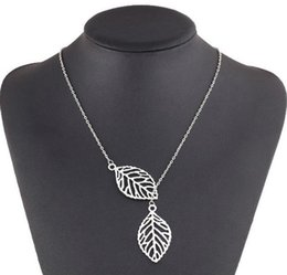 cheap long chains Canada - Necklaces Pendants 925 Silver Plated Leaves Pendant Necklaces Valentine's Day Gift Fashion Korean Jewelry Silver Cheap Long Chains Neck