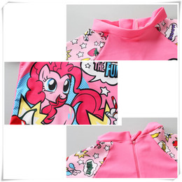 Horse Suit NZ - Outdoors Swimsuit Baby Kids Girl Cartoon Lovely Pink Horse Summer Sport Swimming Suit with Hat Fine workmanship