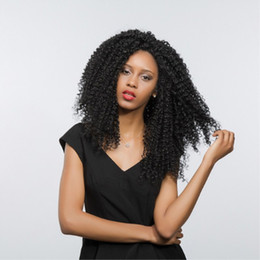 cheap afro full lace wigs Australia - Wholesale Cheap Price Swiss Synthetic Hair 24 Inch Afro Kinky Curly Lace Front Wigs Kanekalon Glueless Full Wigs for Women Heat Resistant