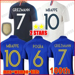 1b4b159908fe2 2019 France soccer jersey 100th anniversary 100 ans years siècle Francais  maillots de football Coupe du
