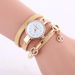 Orange Quartz Pendant NZ - fashion women simple small dial diamond pendant bracelet leather watch wholesale ladies casual leisure dress quartz wrist watch
