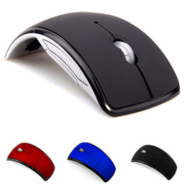 Foldable wireless optical usb mouse online shopping - 2019 Optical G Foldable folding Wireless Mouse Cordless Mice USB Folding Mouse Receiver arc shaped mice colorful