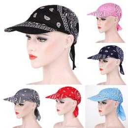 Printed Ball Caps Australia - Womens Visor Hat Sunhat Printed Head Scarf Keep Warm Candy color multi-function warm sunscreen with cap cotton print headband