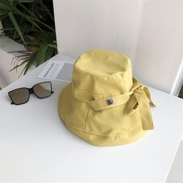 sun hat net Australia - Hat spring and autumn female wild net red fisherman hat cute soft sister bow sunscreen sun