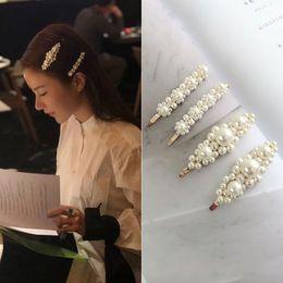 $enCountryForm.capitalKeyWord NZ - Hot Sale Hair Clip Pearl Flower Bridal Wedding Elegant Women Barrettes Hair Clip Hairgrips Accessories For Women Girls