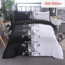 Green Patchwork Bedding Australia - new Black & White 3D Printing bedding sets 200*200 cm 228*228cm double bed 3pcs Bed Linen Couples Duvet Cover Set