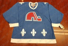 Cheap custom Quebec Nordiques Vintage CCM Hockey Jersey Teal New Stitched  Retro Hockey Jersey Customize any name number XS-5XL 13229c811