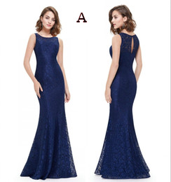 China 2019 Navy Blue Lace Mermaid Long Modest Mother Of The Bride Dresses With Cap Sleeves Simple Elegant Mother's Dresses For Wedding supplier yellow wedding dress for mother bride suppliers