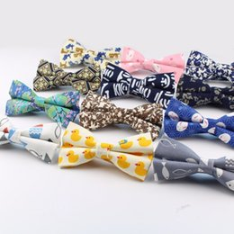 9b2703ed1310 Men Bow Tie Style Cotton Duck Fish Rabbit Cat Bowtie Casual Butterfly  Colorful Ties