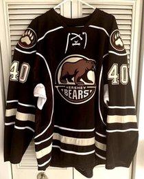 Настройка Hershey Bears Калеб Герберт хоккей Джерси вышивка сшитые любое количество и имя трикотажные изделия на Распродаже