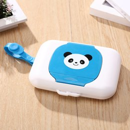 Kids case holder online shopping - New Cute Baby Travel Wipe Case Child Wet Wipes Box Changing Dispenser Storage Holder Napkin Box Baby Kids Wipes Storage Case