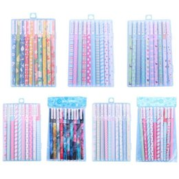 mini stationery sets Australia - Kawaii Gel Pencils 10 pcs Colored Ink Pens Set Cute 0.5mm Mini Writing Canetas for Boy Girl Office School Stationery Supplies