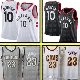 1107a2f07095 Demar 10 DeRozan Toronto Cheap Raptors Jersey Cleveland 23 LeBron James  Cavaliers Basketball Jerseys Mens Embroidery Logos