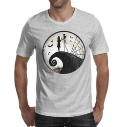 01485e5dde Men design printing Nightmare Before Christmas Lunch Plates grey t shirt  design funny cool superhero champion shirts hip hop t shirt fas