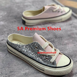 Discount loafer new shoes leather - withbox 2018 new fashion women's loafers multicolor sequined breathable slipper designer shoes Canvas shoes Skatebo