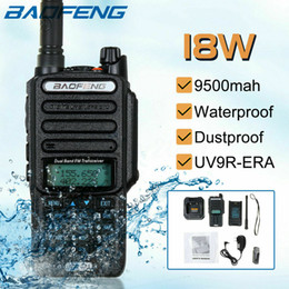 Wholesale hams radio online – design 2020 Baofeng UV R plus w Waterproof Walkie Talkie High Power CB Ham KM Long Range UV9R portable Two Way Radio for hunting