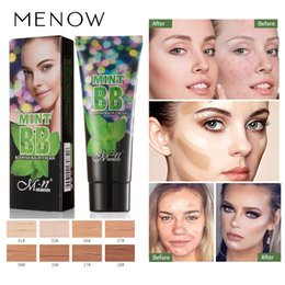moisturizing liquid foundation Canada - Menow Liquid Foundation Waterproof Natural Face Foundation BB Cream Moisturizing Concealer Nude Makeup Face Beauty Concealer Cosmetic