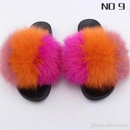$enCountryForm.capitalKeyWord Australia - Footwear Women's Faux Fur Soft Slide Flat Slipper Cute Fuzzy FILP Flops Slides Wide Width Comfortable Fur Slippers Custom Logo Accept