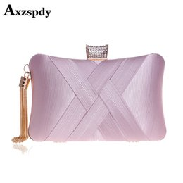 Discount ladies classical bags - Axzspdy 2019 Metal Tassel Lady Clutch Bag With Chain Shoulder Handbags Classical Style Small Purse Day Evening Clutch Ba