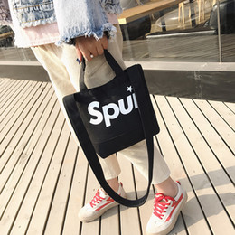 $enCountryForm.capitalKeyWord Canada - Lucky2019 Old Original Ulzzang Small Bag Woman Hundred Take The Hand Oblique Mention Satchel Canvas Bucket Single Shoulder Package