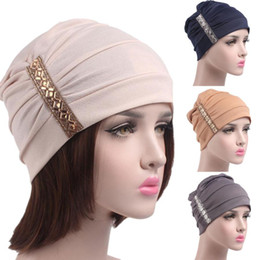 chemo cap 2019 - JAYCOSIN hat female hair Women balaclava Cancer Chemo Hat Beanie Scarf Turban Head Wrap Cap item MAY4 cheap chemo cap