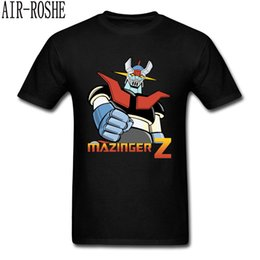 Discount japan robot - Anime Mazinger Z T-shirt Men T Shirt Fashion Black Tops Warrior Lover Clothing Robot Tees Japan Classic Anime Tshirt