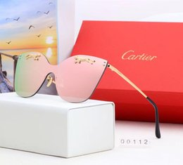 Cat Uv Protection Glasses Australia - 0926 Men Women designer Sunglasses Fashion Oval Sunglasses UV Protection Lens Coating Mirror Lens Frameless Color Plated Frame Come With Box