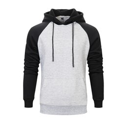 Discount color factory clothes - Mens women hood coat Cross-border autumn and winter clothing new men's solid color hooded brushed couple sweater fa