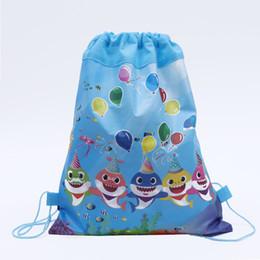 $enCountryForm.capitalKeyWord Australia - Cartoon Storage Bags For Birthday Party Favor Girls Baby Shark Gift Bag Drawstring Backpack Kids Toys Receive Package Swimming Beach Bag
