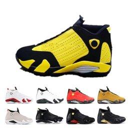 $enCountryForm.capitalKeyWord Australia - 14 New 14s Candy Cane Black Toe Fusion Varsity Red Suede Men Basketball Shoes Last Shot Thunder Black Yellow Dmp Sneakers
