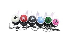 China 3.5mm PC Mobile Phone Promotion Big Star Pattern Sports Style Head Type Mega Bass Earphone Headphone Headset suppliers