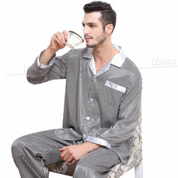 c6269f375c Mens Silk Satin Pajamas Set Pajama Pyjamas PJS Set Sleepwear Loungewear S~4XL  Big and Tall