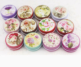 metal tea tin containers wholesale Australia - 12 Pieces lot Flowers Tea Caddy Receive Box Candy Storage Box Wedding Favor Tin Box Cable Organizer Container Household