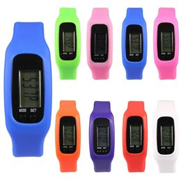 Silicone Sport pedometer watch online shopping - Digital LCD Silicone Wrist band Pedometer Run Step Walk Distance Calorie Counter Wrist Adult Sport Fitness Multi function Watch