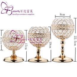 shipping airlines UK - 3Pcs Crystal Candle Holders Wedding Centerpieces Candlesticks Set for Birthday Party Dining Table Decorative Gifts
