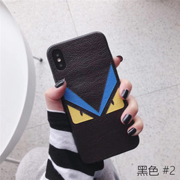 $enCountryForm.capitalKeyWord Australia - Wholesale Luxury PU phone case For iPhone 6S 7 8 P X XS fashion Monster's Eye Designer phone back cover For gifts
