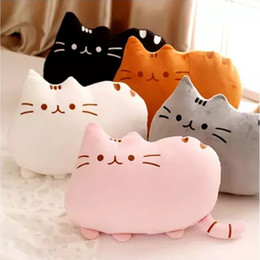 cat cushion for kids Australia - 8Colors Cute Fat Cat Baby Plush Toy 20 40 cm Pillow Dolls For Children High Quality Soft Cushion Cotton Brinquedos For Kids Gift