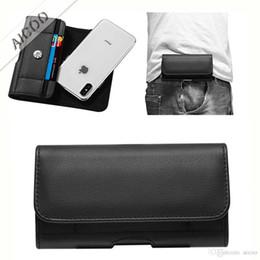 Опт Роскошный PU кожаный чехол зажим для ремня Универсальный чехол для мобильного телефона Талия сумка для iPhone XR XS Max X 7 8 Plus Samsung Note 9 S9 Plus Huawei OPP