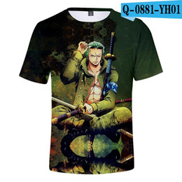 Wholesale tee shirt anime one piece for sale – custom 2 years old Kids T Shirt One Piece Anime D Print Hip Hop High Quality Tops Tees Summer Breathable Comfortable Men T shirt
