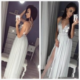 holiday evening gowns floor length Australia - Sexy Silver Gray Long Evening Dresses 2019 A Line Spaghetti Strap Celebrity Holiday Women Wear Formal Party Prom Gowns Custom Made Plus Size